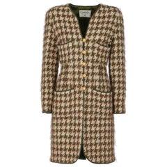 1990s Chanel Pied de Poule Overcoat