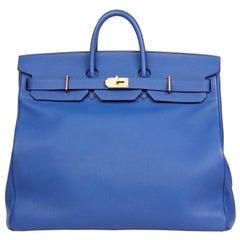 2014 Hermes Blue Electric Togo Leather Birkin HAC 50cm ddbbb7a92e0b6
