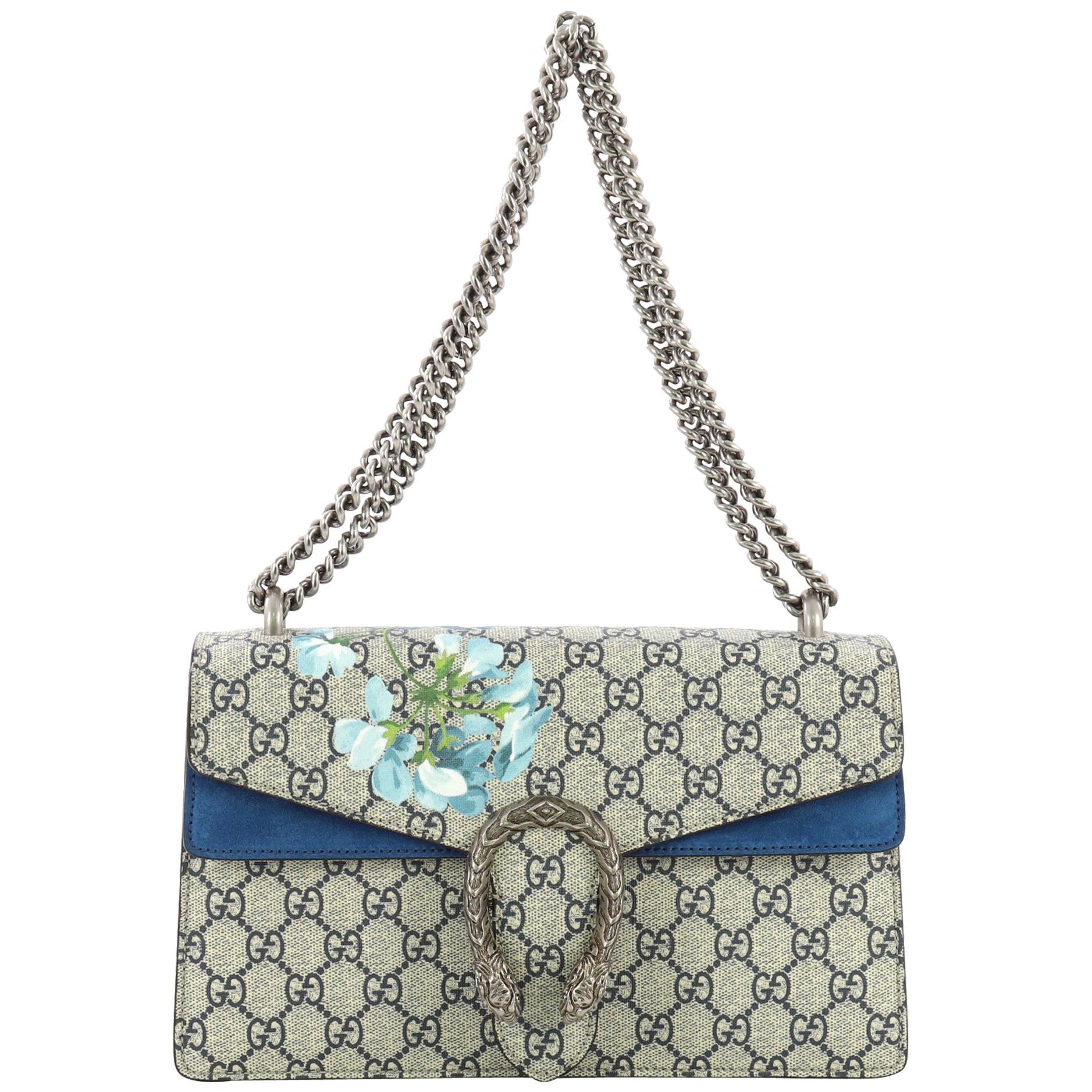 40a001c8a9c79e Gucci Dionysus Handbag Blooms Print GG Coated Canvas Small at 1stdibs