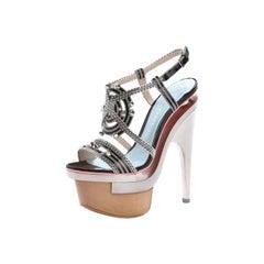 Versace triple platform sandals 37 - 7