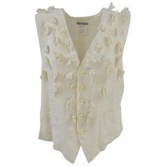 1990s Issey Miyake Off-White Flax Shirt