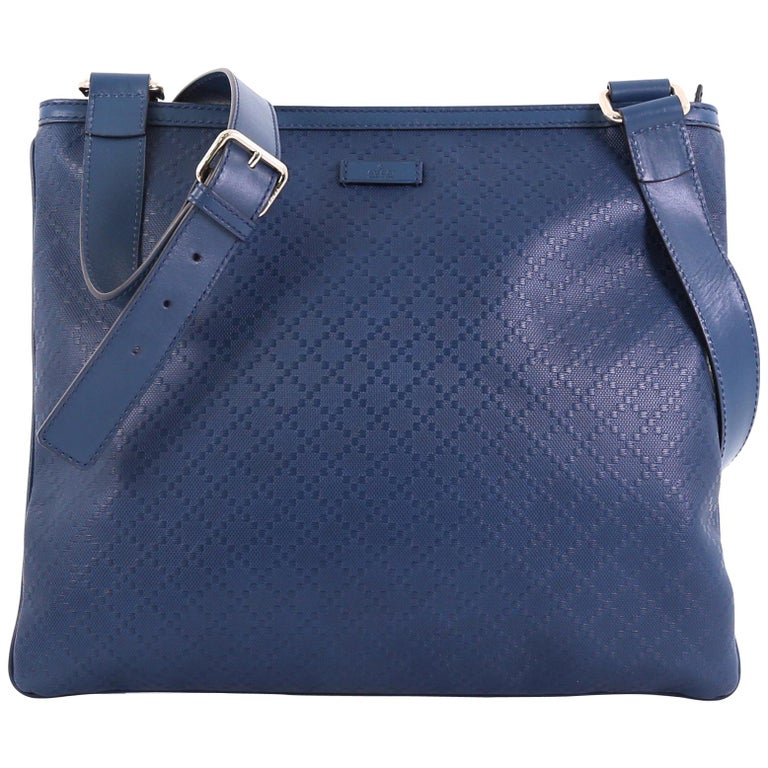 e0c1e9f58d7 Gucci Crossbody Bag Diamante Leather Large For Sale at 1stdibs