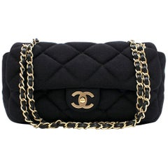 Chanel Medium Jersey Quilted Flap Bag