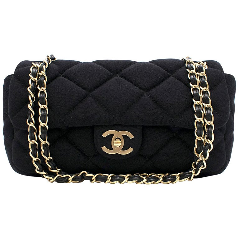 02724e992038 Chanel Medium Jersey Quilted Flap Bag at 1stdibs
