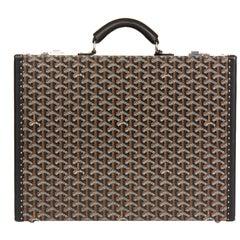 2016 Goyard Black Chevron Coated Canvas Mallette Manoir Briefcase