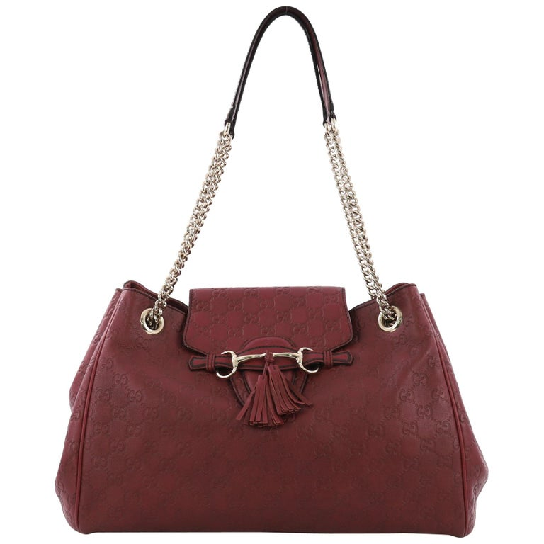 604777689dc2 Gucci Emily Flap Shoulder Bag Guccissima Leather Large For Sale at ...