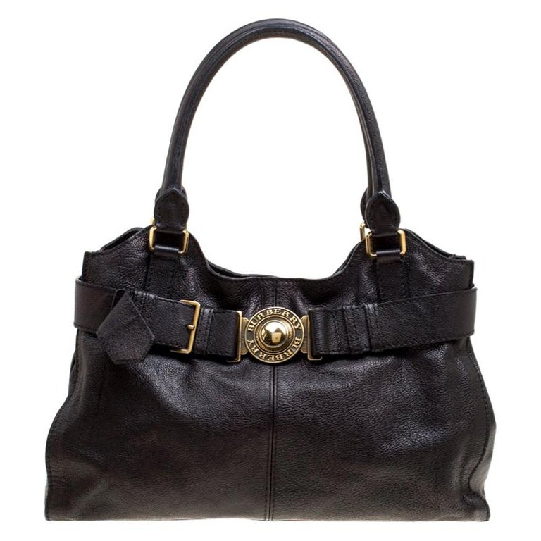 db91e3d3efb6 Burberry Black Leather Lambeth Tote For Sale at 1stdibs