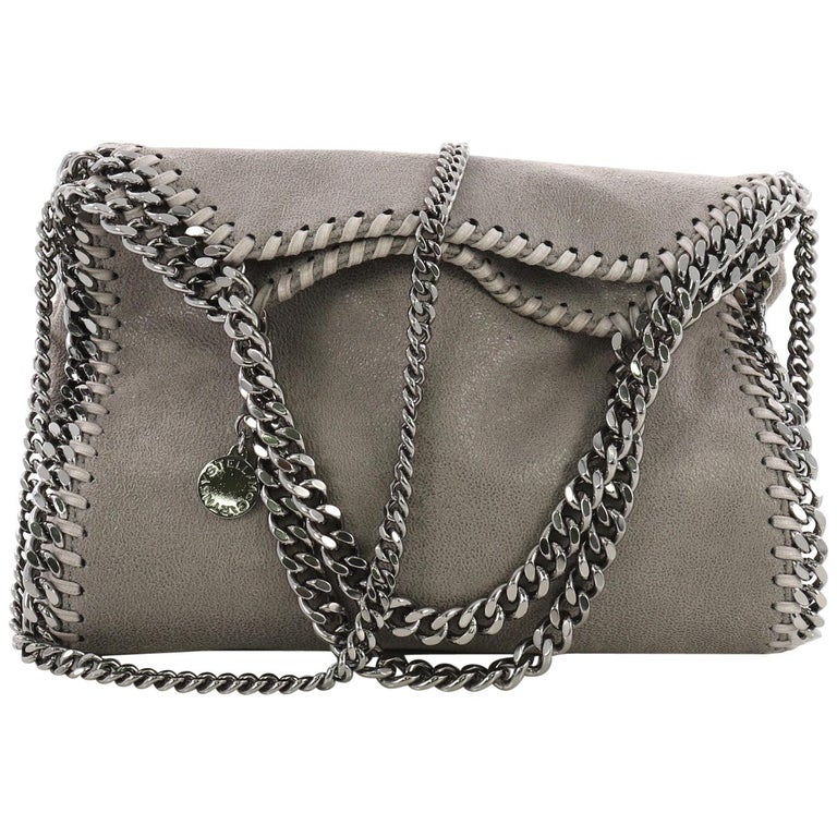 Stella McCartney Falabella Fold Over Crossbody Bag Shaggy Deer Mini For Sale 77d6e3eff4158