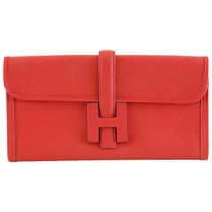 Hermès Red Swift Jige Elan 29 Clutch