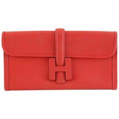 Hermès Rouge Swift Jige Elan 29 Clutch