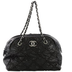 Chanel Ultra Stitch Bowling Bag Quilted Calfskin Large