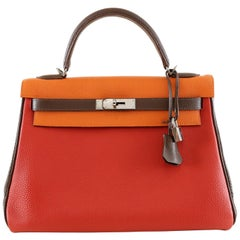 Hermès Tri Color Togo Leather 32 cm Kelly Bag - Limited Edition