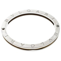 Bvlgari B.Zero1 Stainless Steel & 18K Yellow Gold Oval Bangle Bracelet