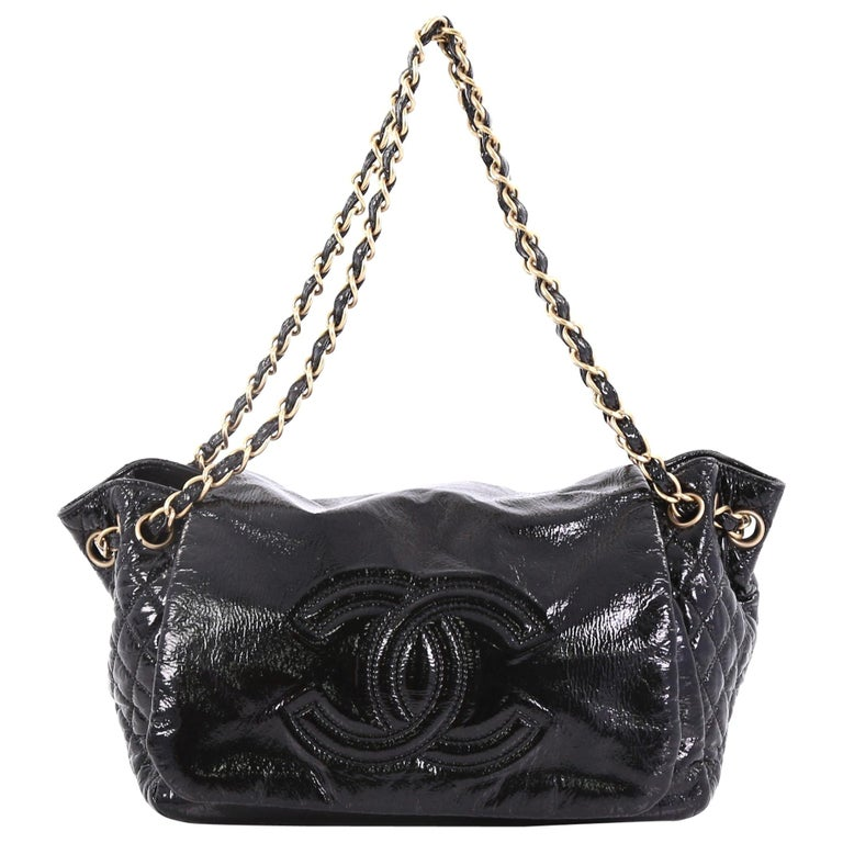 a7dca406ead8 Chanel Rock and Chain Accordion Flap Bag Patent Vinyl Small For Sale ...