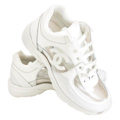 Chanel Transparent White PVC Trainers Sneakers Size 38