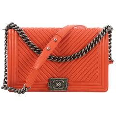 58bef970e251 Chanel Boy Flap Bag Chevron Wrinkled Lambskin New Medium.  HomeFashionHandbags and PursesCrossbody Bags and Messenger Bags. Chanel  Waist Bag Quilted Fanny ...