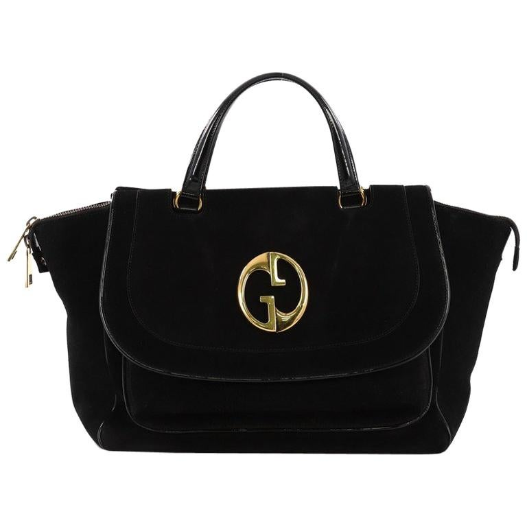 3af534e3dd2 Gucci 1973 Top Handle Bag Suede Medium For Sale at 1stdibs