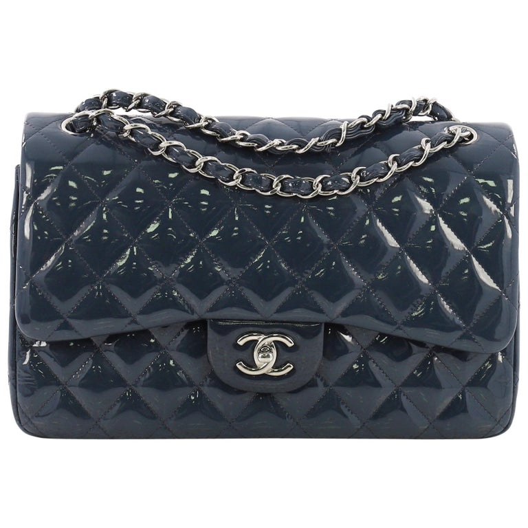 ff7c49c27243 Chanel Classic Double Flap Bag Quilted Patent Jumbo at 1stdibs