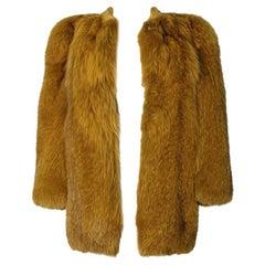 """Yves Saint Laurent 1971 """"Scandal"""" Chubby Fur Short Coat"""
