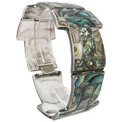 1950's Tasco Handmade Sterling and Abalone Bracelet