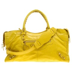 Balenciaga Curry Leather Giant 12 Gold Hardware Part Time Tote