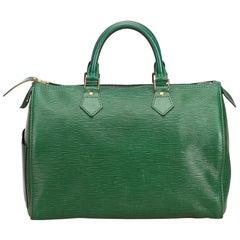 Louis Vuitton Green Epi Speedy 30