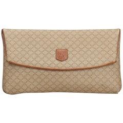 Celine Brown Macadam Clutch Bag
