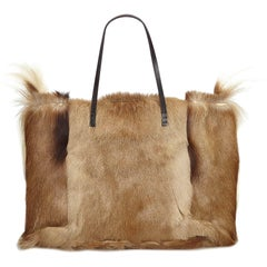 Fendi Brown Fur Tote Bag
