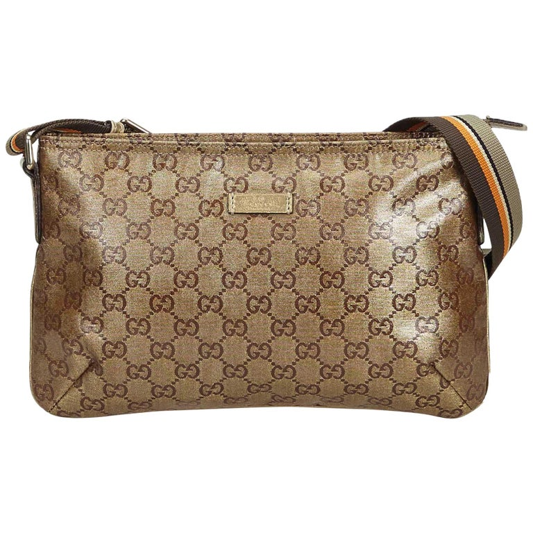 0e45bee4ff7f Gucci Brown GG Supreme Coated Canvas Crossbody Bag at 1stdibs