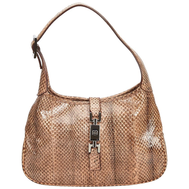 Gucci Brown Leather Jackie Shoulder Bag For Sale
