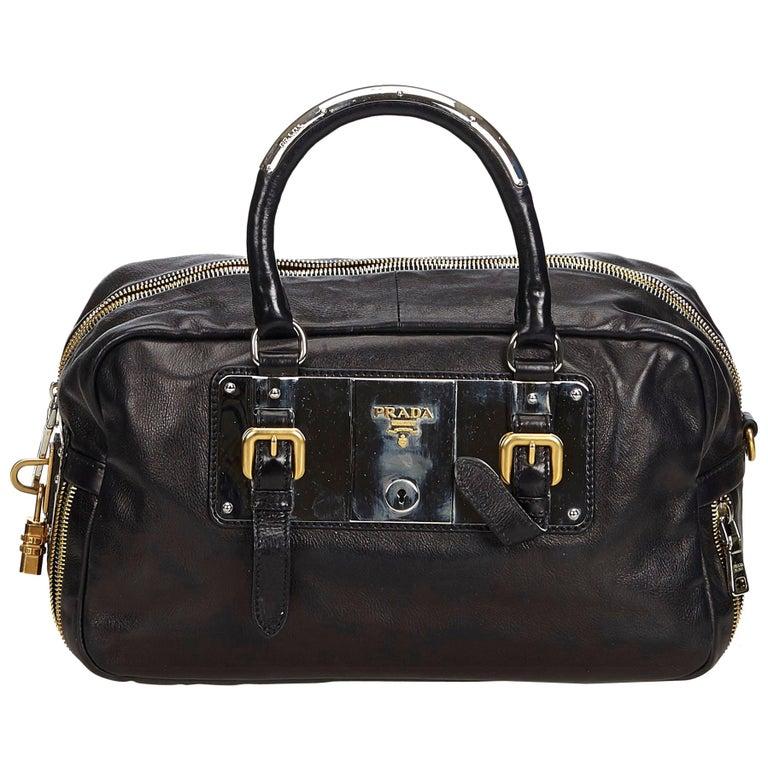 cfde189f3532 Prada Brown Leather Handbag For Sale at 1stdibs