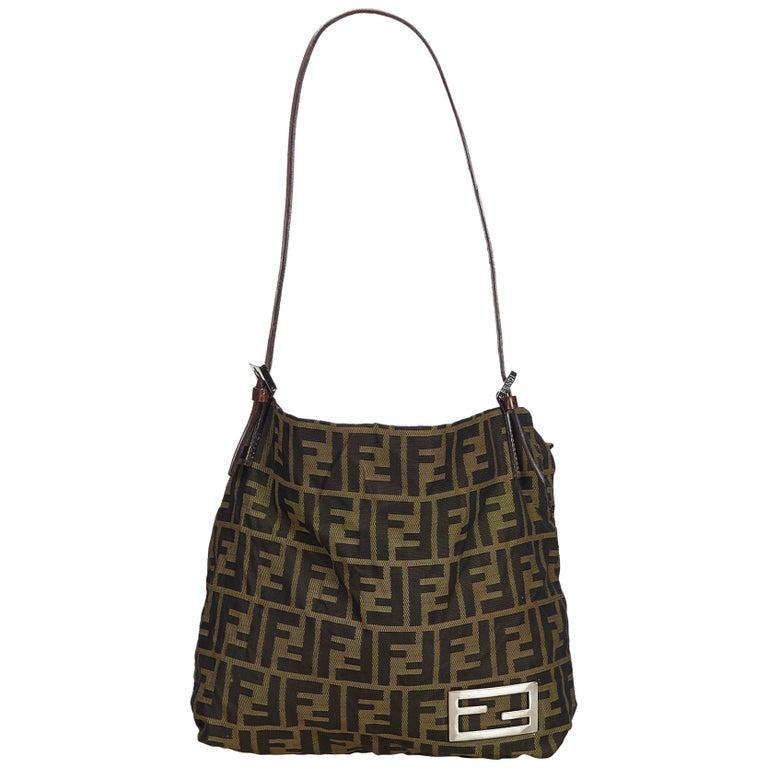 66f805c1b46f Fendi Brown Zucca Jacquard Tote Bag at 1stdibs