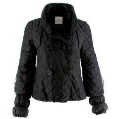 Moncler black quilted-down coat Size 1