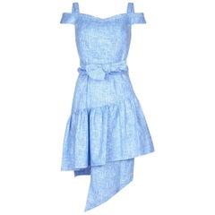Paper London Pear sky-blue weave dress US 4