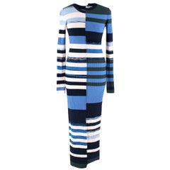 Opening Ceremony Blue Knit Midi Dress US 4
