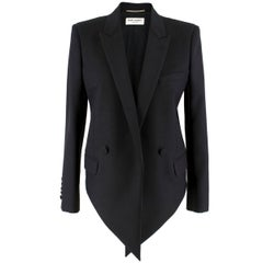 Saint Laurent Asymmetric Black Blazer US 6