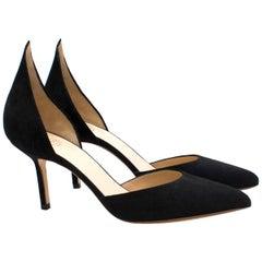 Francesco Russo d'Orsay suede mid-heel pumps - New Season US 6.5
