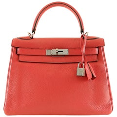 Hermès Bougainvillea 28 cm Clemence Kelly Bag