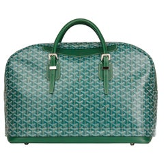 2010 Goyard Green Chevron Coated Canvas Expandable Hotel Du Parc