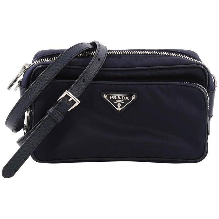 7fe94e4cdfc Prada Front Pocket Crossbody Bag Tessuto Small