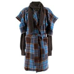Vivienne Westwood Anglomania Dionysian tartan coat US 6