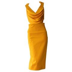Cushnie et Ochs Marigold Yellow Sheath Dress