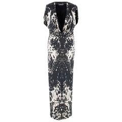 Alexander McQueen Leopard Print Twist Midi Dress US 10