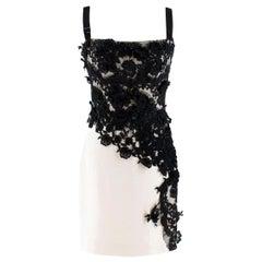 Dolce & Gabbana lace-applique cady slip dress US 6