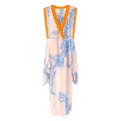 Fendi floral-print V-neck silk maxi dress US 4