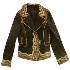 Ermanno Scervino luxurious vintage embroidered short jacket