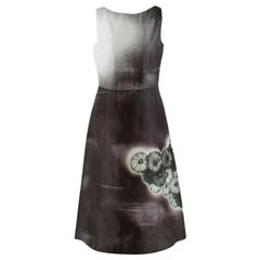 Prada Special Edition Bi-Colour Printed Silk Dress US 6