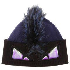 Fendi Fox Fur Trimmed Beanie