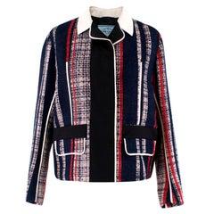 Prada Striped Tweed Jacket US 6