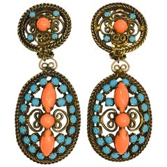 K.J.L. Kenneth Jay Lane Pendant Earrings